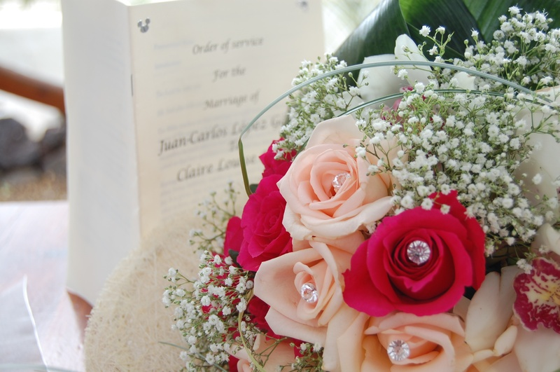 Bouquet and order of service