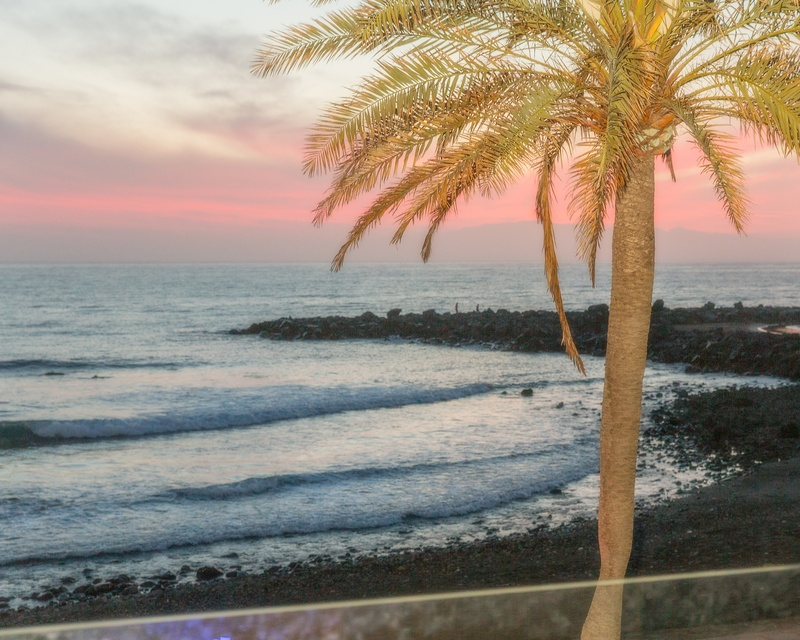 The beautiful Tenerife sunset