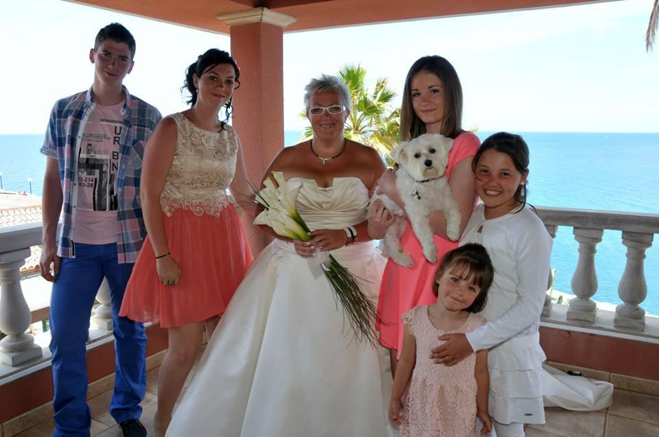 The bride with her party