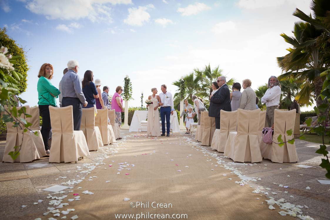 Walking back as Mr and Mrs