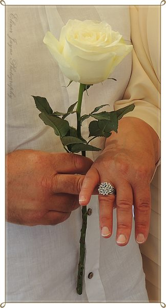 The ring Rick bought his wife to celebrate thier anniversary