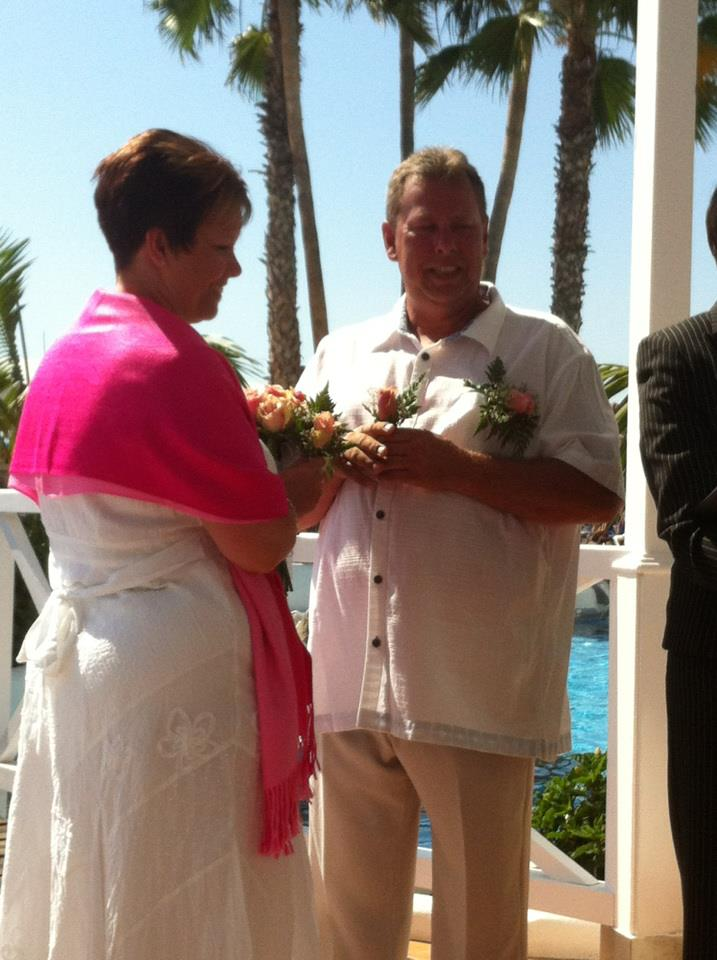 The start of the rose ceremony
